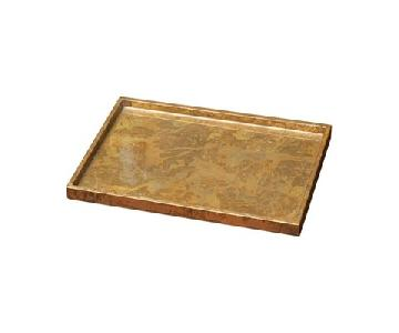 Studio A Luxe Gold Leaf Rectangle Tray