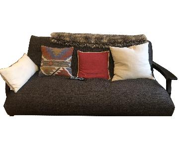 Strata Furniture Fremont Black Walnut Queen Wall Hugger