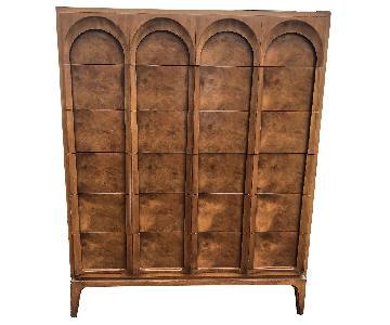 Thomasville Mid Century Modern Burlwood High Boy Dresser