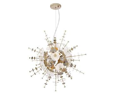 Possini Euro Design Tien Champagne & Smoke Pendant