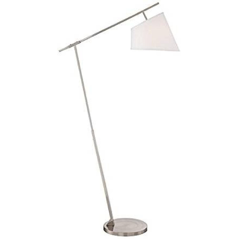 Possini Euro Design Brushed Arc Steel Floor Lamp Aptdeco