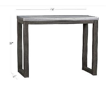 CB2 Stern Counter Table w/ 2 Acrylic Stools