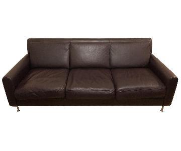 Safavieh Brown Leather Sofa