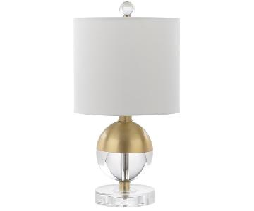 Crystal Ball Accent Lamp w/ Brass Accent