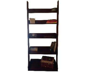 Hooker Cherry Espresso Ladder Bookshelf