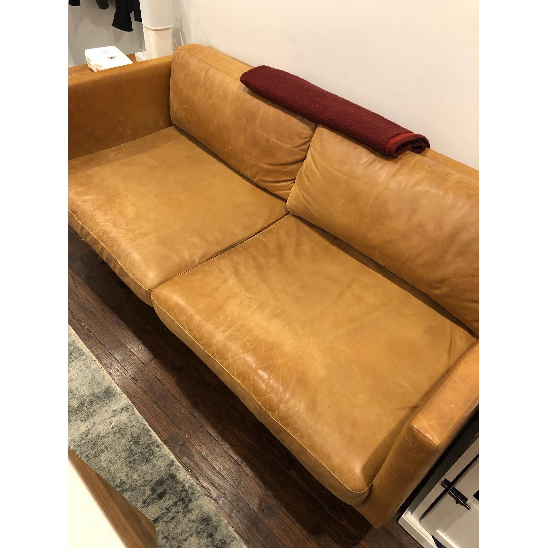 West Elm Brooklyn Sofa in Sienna Leather-1