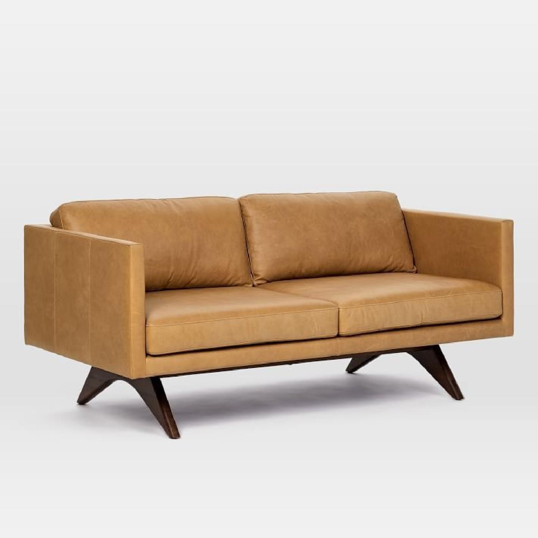 West Elm Brooklyn Sofa in Sienna Leather-4