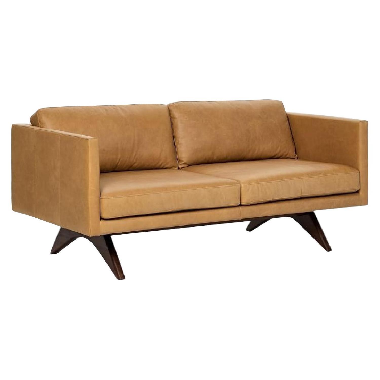 West Elm Brooklyn Sofa in Sienna Leather