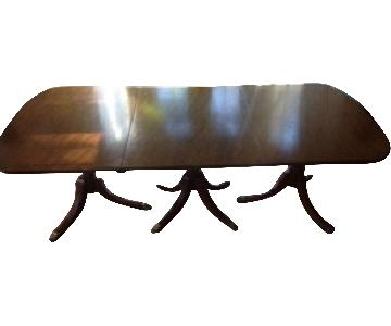 Depression Era Reproduction Duncan Phyfe Dining Table