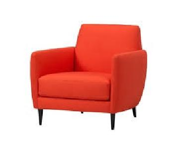 CB2 Orange Accent Chair