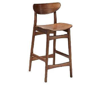 West Elm Classic Caf Walnut Counter Stools