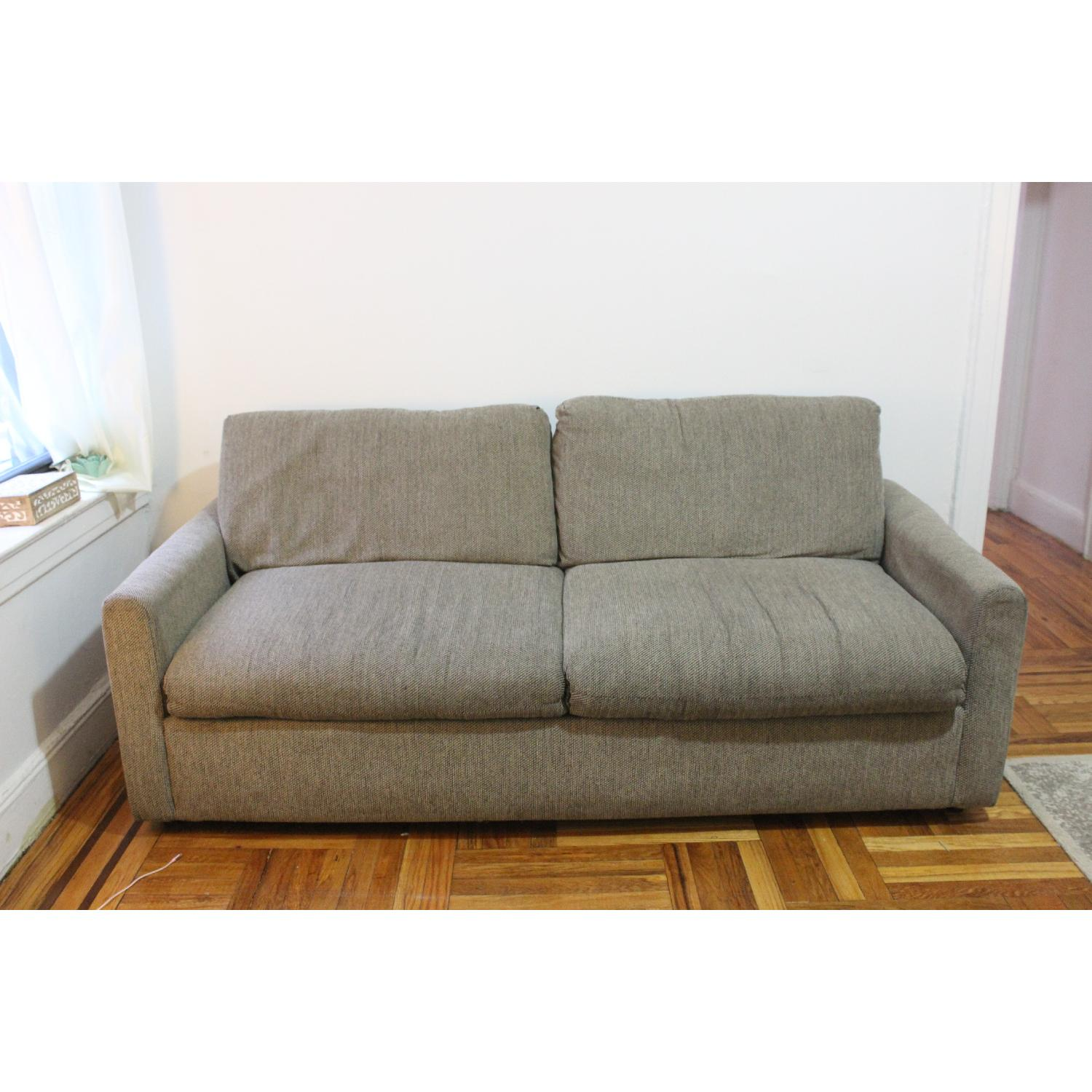 Natural Grey Tweed Sleeper Sofa-0