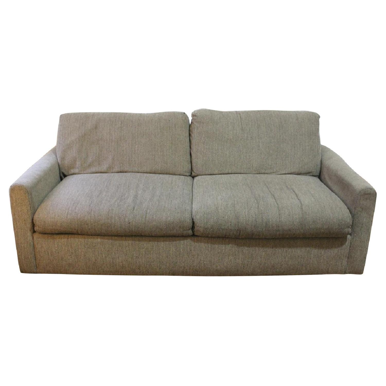 Natural Grey Tweed Sleeper Sofa