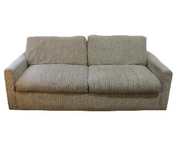 Natural Grey Tweed Sleeper Sofa