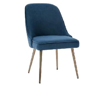 West Elm Mid-Century Upholstered Dining Chairs