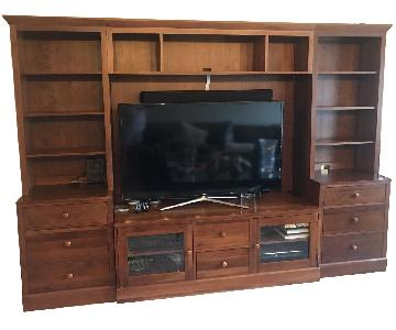 Ethan Allen Wall Unit w/ TV Hutch