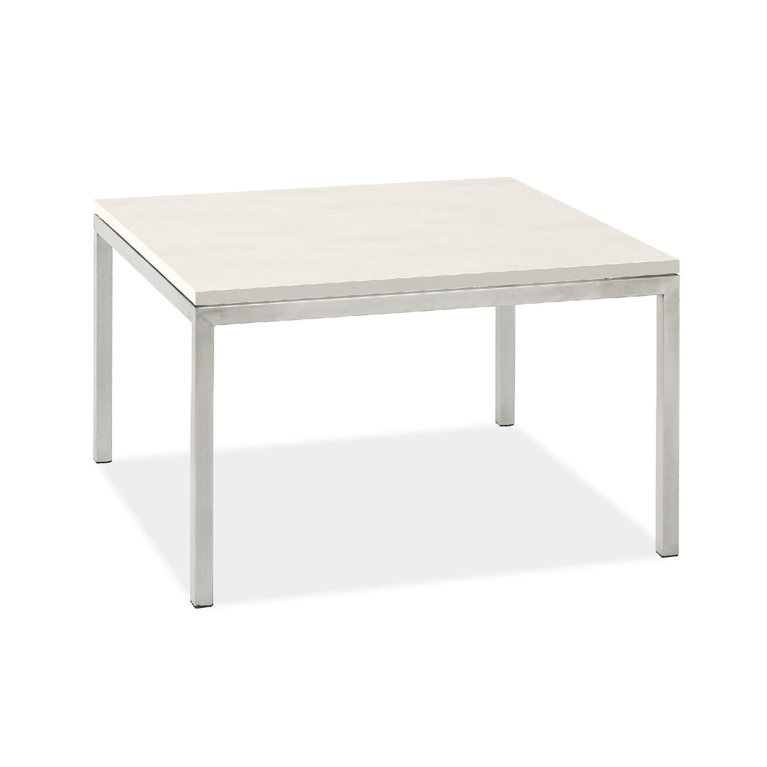 Room & Board Quartz Stainless Steel Coffee Table