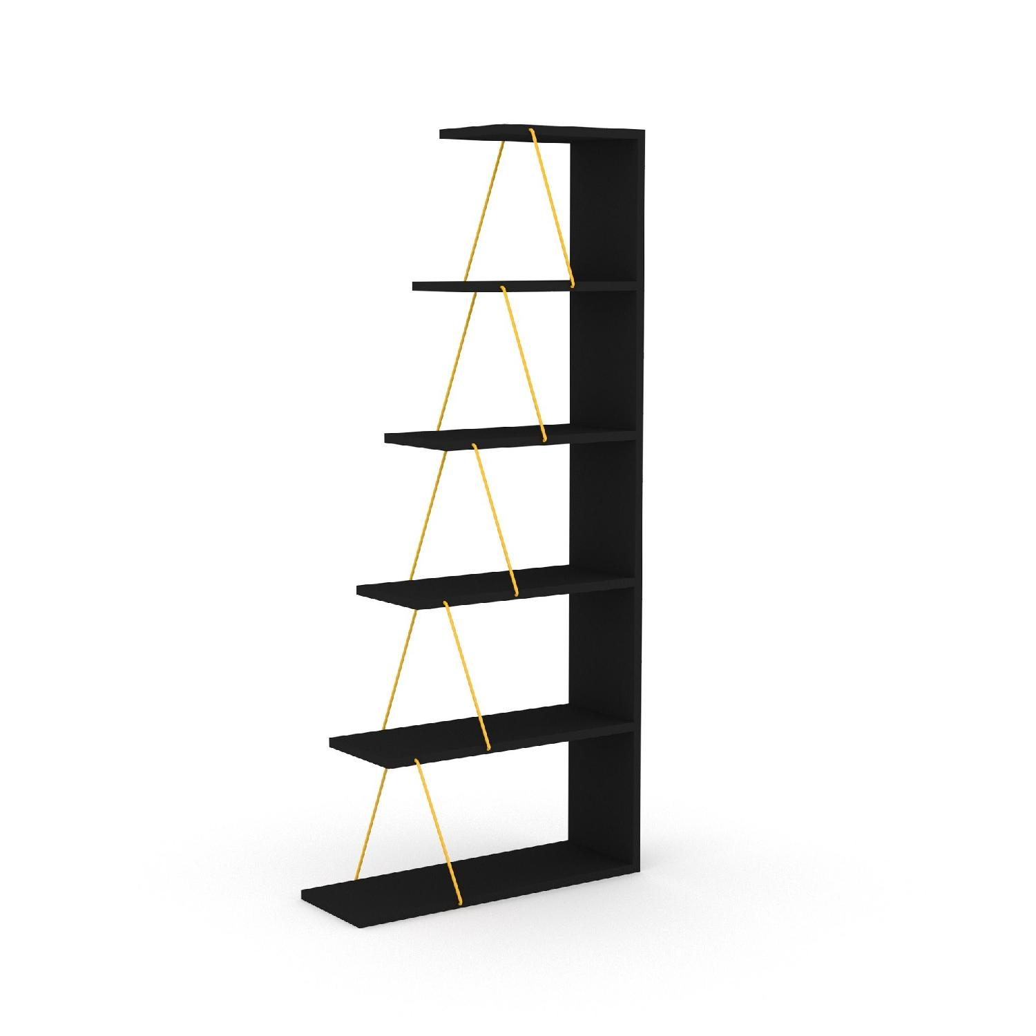 Tamada Trading Orderly Bookshelf in Black & Yellow