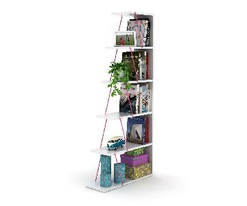 Tamada Trading Bookshelf in White & Pink
