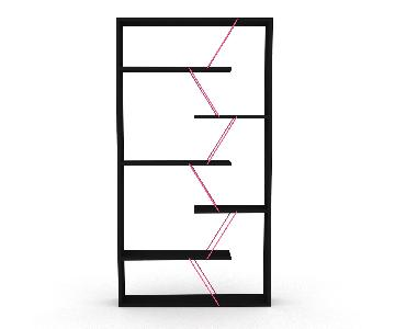 Tamada Trading Full Bookcase in Black Pink