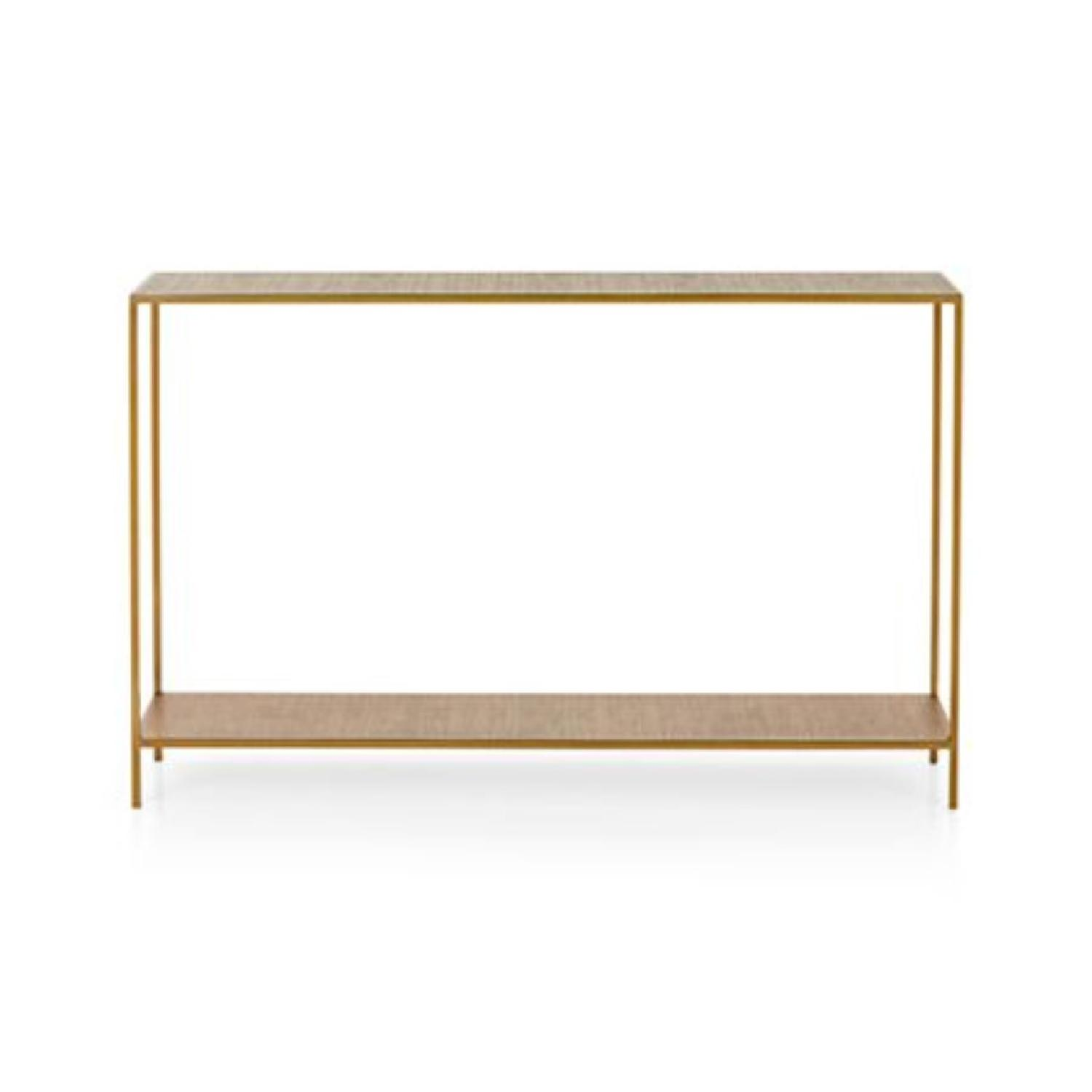 Crate & Barrel Jacque Console Table