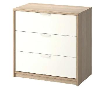 Ikea Askvoll 3-Drawer Chest in White Stained Oak