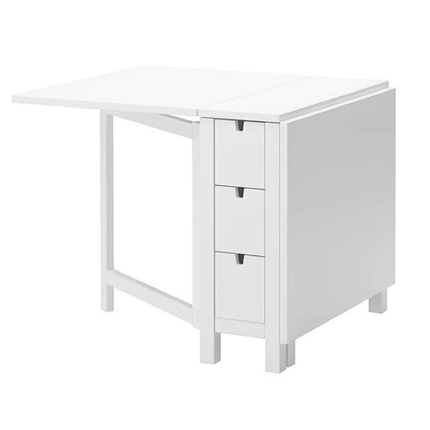 Ikea Norden Gateleg Table in White