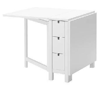 Ikea Norden Gateleg Table in White