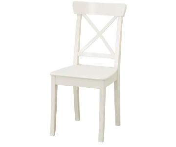 Ikea Ingolf Chairs in White