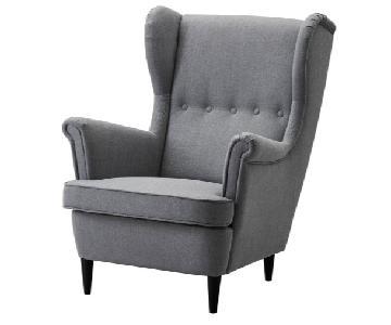 Ikea Srandmon Wing Chair & Ottoman