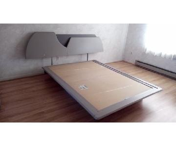 Laurier Canadian Modern Two-Tone Bed w/ Light