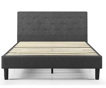Zinus Diamond Stitched Platform Full Bed in Dark Grey