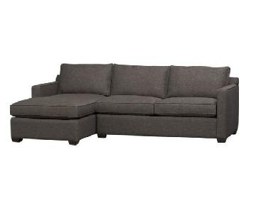 Crate & Barrel Davis 2 Piece Sectional Sofa