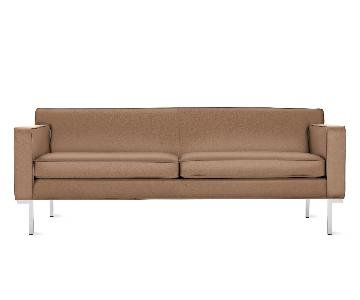 Design Within Reach Theatre Sofa in Clay Leather