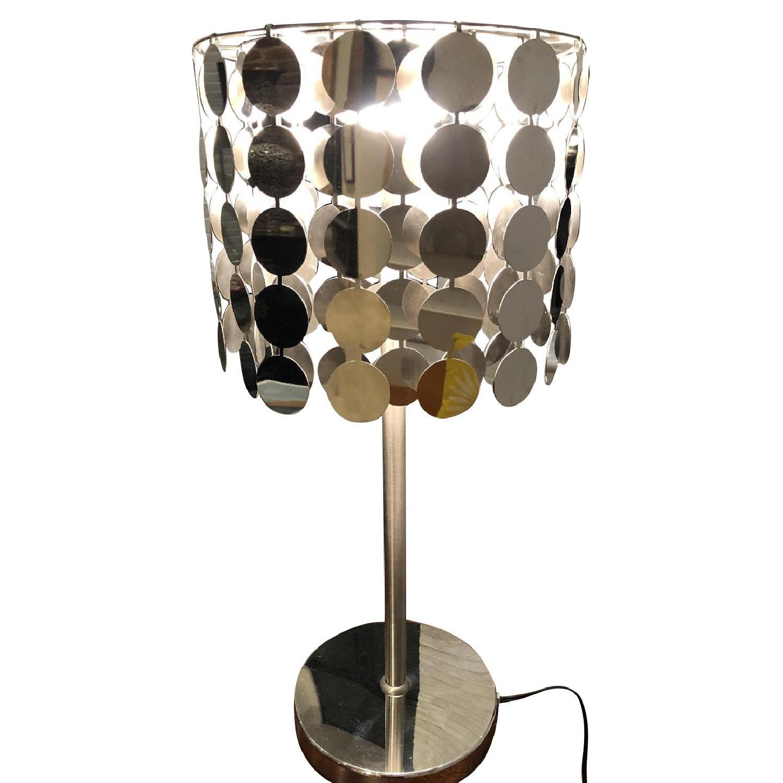 Metal Disc Table Lamp