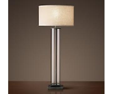 Restoration Hardware French Column Glass Table Lamps