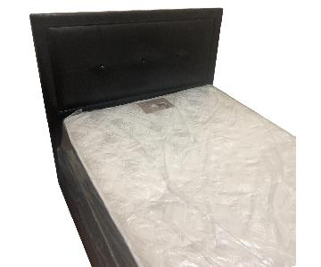 Faux Leather Full Size Bed