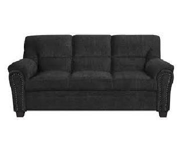 Graphite Chenille Fabric Sofa