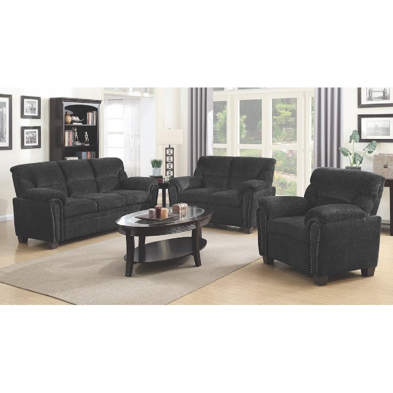 Graphite Chenille Fabric Sofa-1