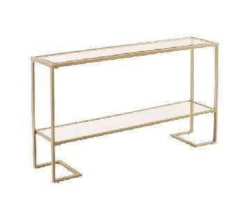 Mercer41 Modern Muted Gold Console Table