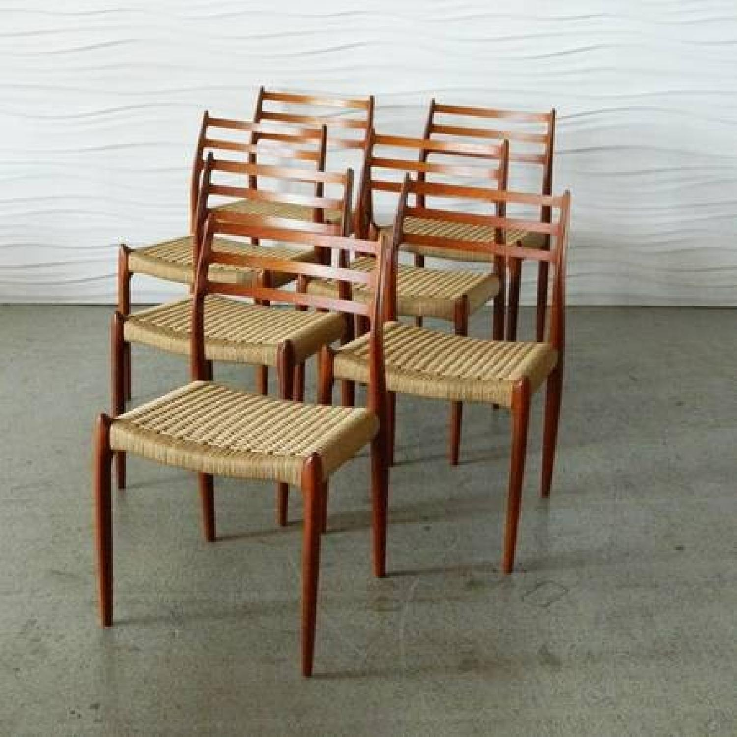 Design Within Reach Moller Model 78 Side Chairs In Walnut-0