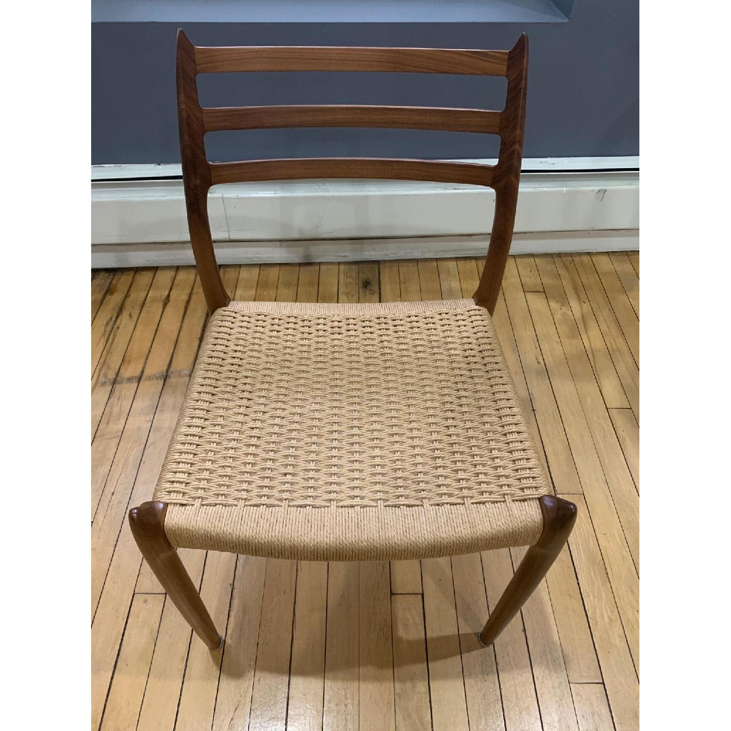 Design Within Reach Moller Model 78 Side Chairs In Walnut-2