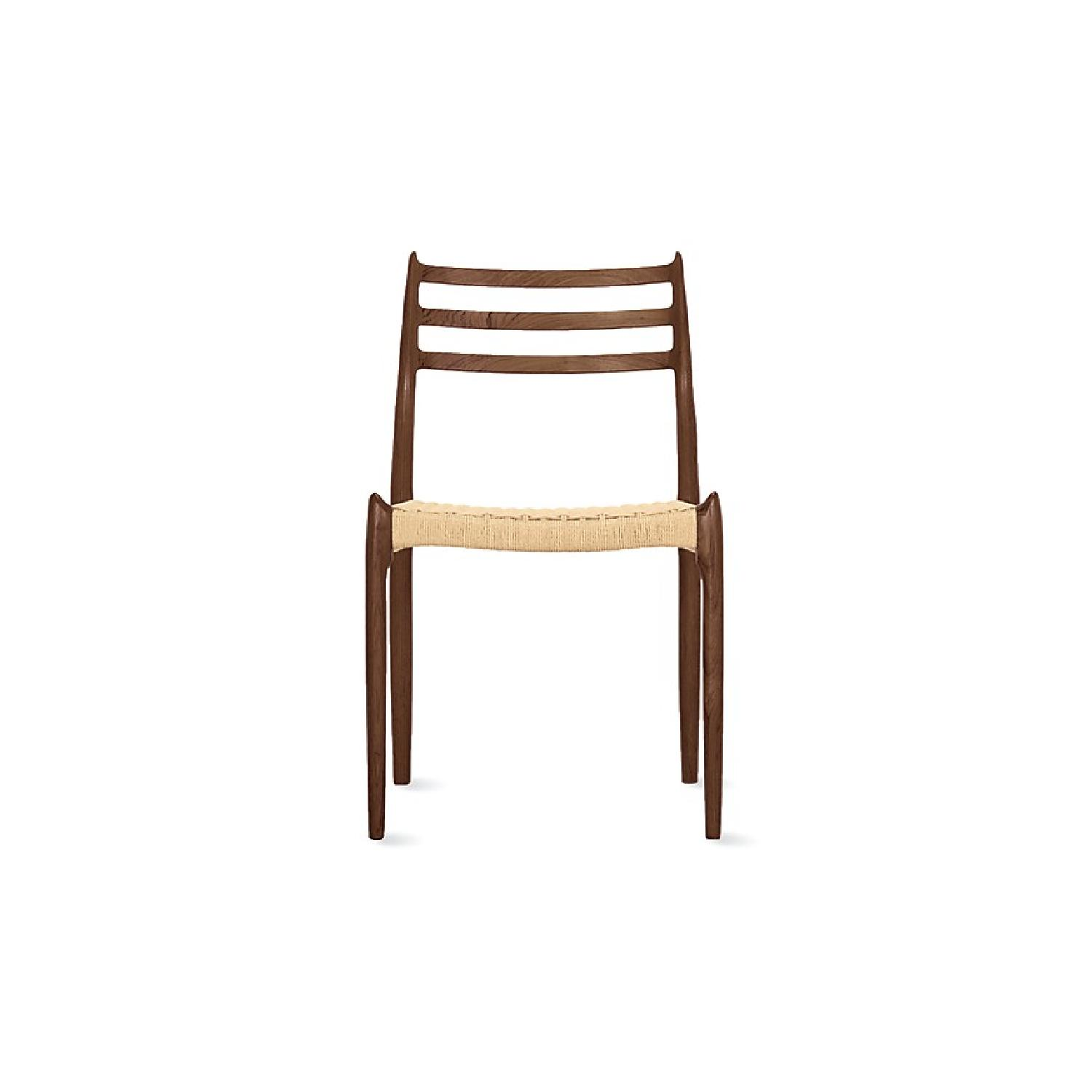 Design Within Reach Moller Model 78 Side Chairs In Walnut-3