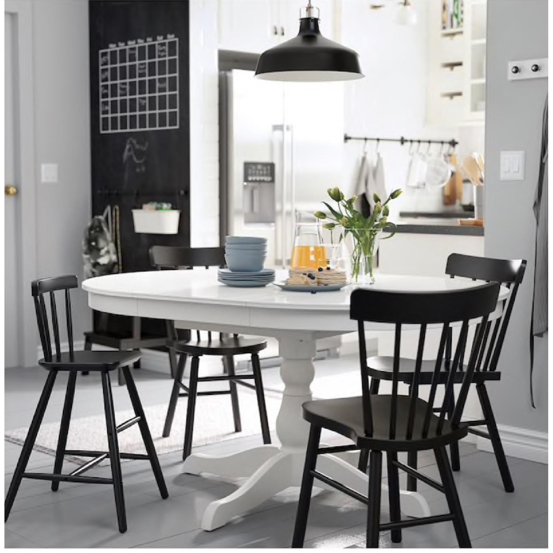 Ikea Ingatorp Round Extendable Dining Table Aptdeco