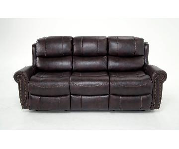 Bob's Lannister Dual Power Reclining Sofa