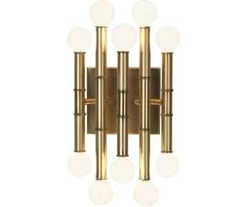 Jonathan Adler Meurice Wall Sconce in Antique Brass Finish