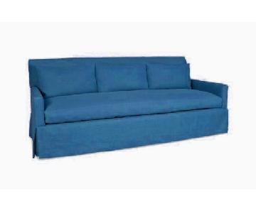 Lee Industries Teal Velvet Sofa