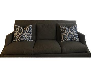 Grey Studded 3 Seater Sofa