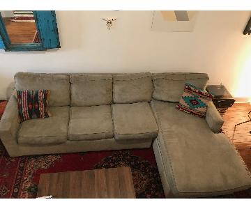 Gray 2-Piece Sleeper Sectional Sofa