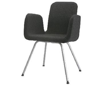 Ikea Patrik Dark Wool Dining Chairs